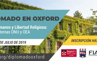 Diplomado en Oxford: Derechos Humanos y Libertad Religiosa: sistemas ONU y OEA 2019