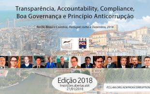 Treinamento Avançado em Ténicas Internacionais de Transparência, Compliance e Anticorrupção 2018